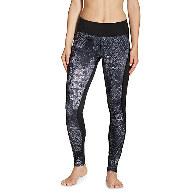 1186bc40f39fa Amazon.com: Gaiam Women's Luxe Yoga Legging Print, Black Patchwork ...
