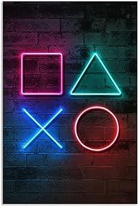 Jumant PRINTED Neon Gaming Poster - 16