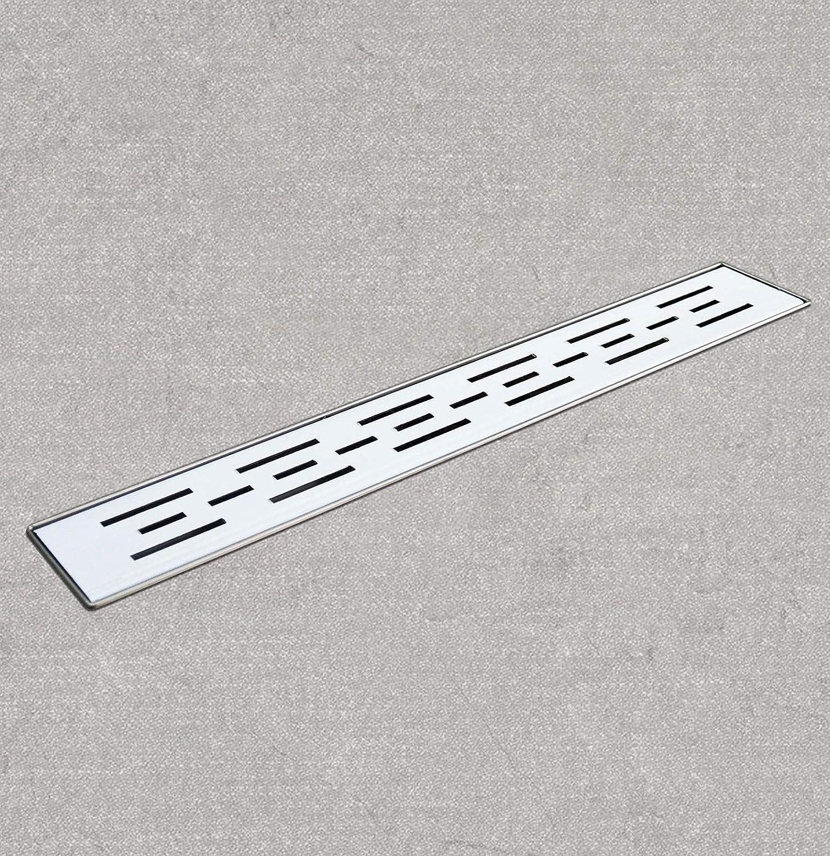 70cm//27.56 IN, HFD01 Drenaje de Piso Acero Inoxidable Desag/üe de la Ducha Alcantarilla Canal Lineal Dren Suelo Sumidero Rectangular
