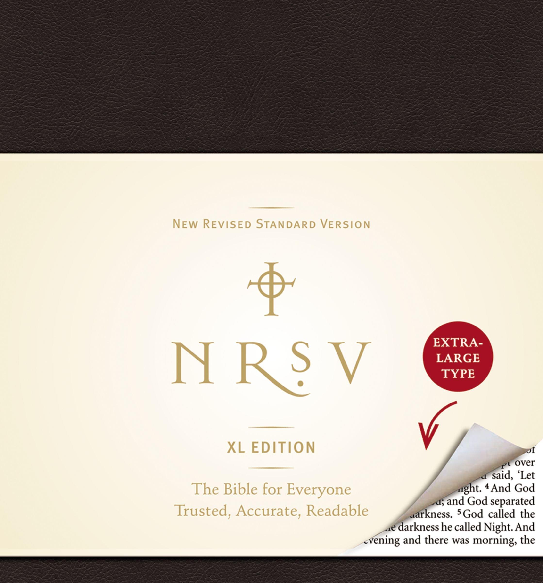 Download NRSV, XL Edition, Bonded Leather, Black pdf epub