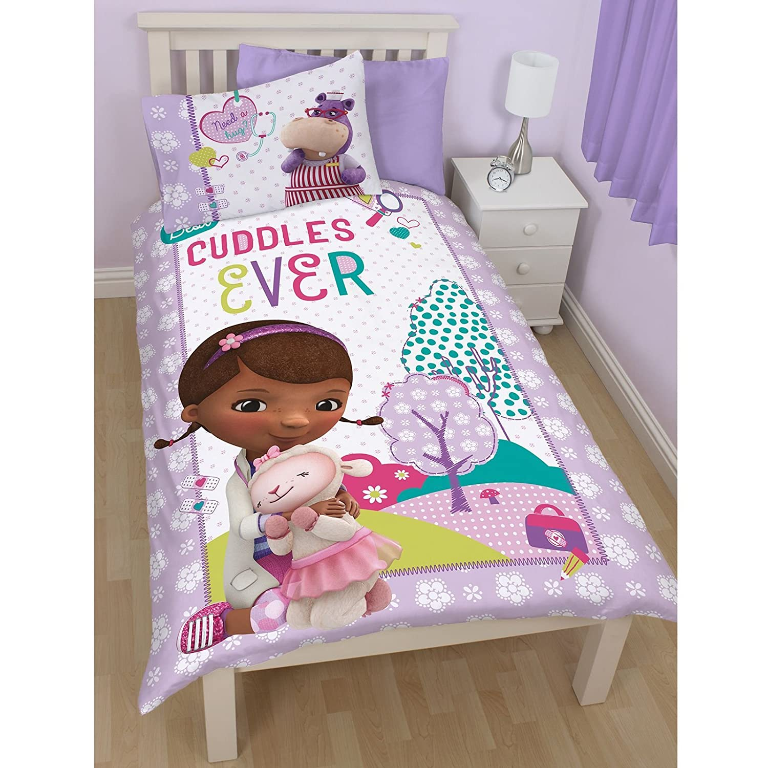 Disney Doc McStuffins Hugs Single Panel Duvet Set Amazoncouk Kitchen Home