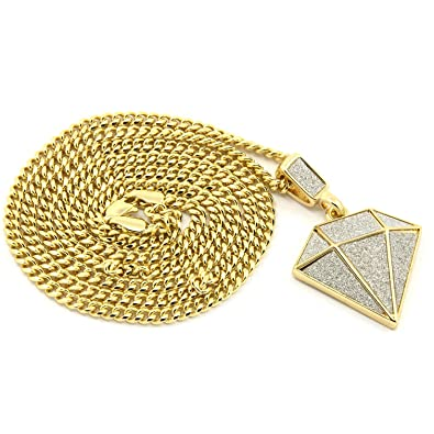 Mens Gold Plated Iced Out Diamond Hip-Hop Pendant 30