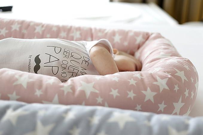 Cuco Nest reductor by Mimuselina | Cama nido bebe (desenfundable) - Estrellas Rosa: Amazon.es: Bebé