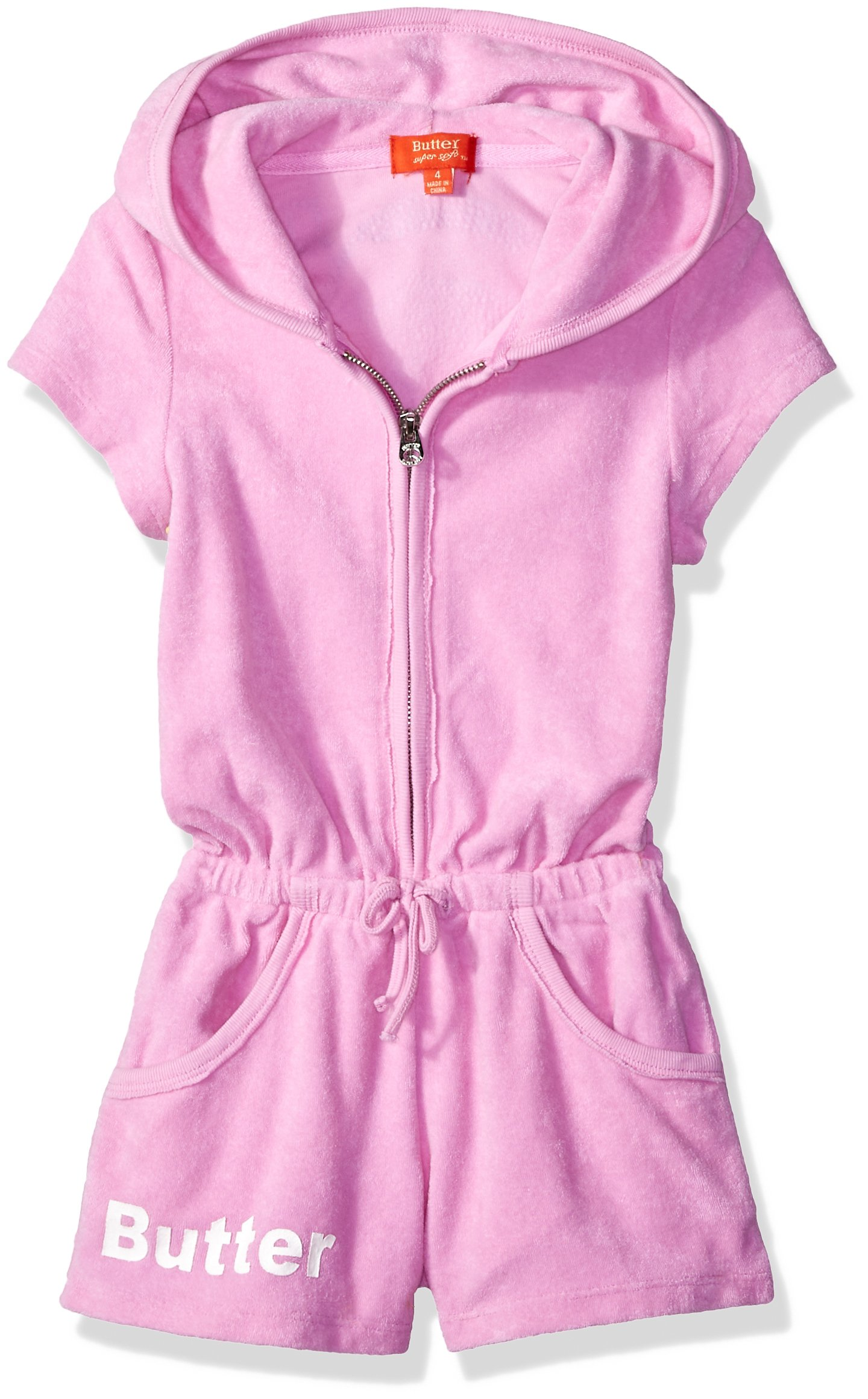 Butter Girls' Little Romper, French Terry Pastel Lavender 4