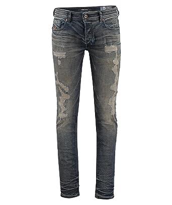 15c58a3a Diesel Men's Sleenker 084DL Skinny Distressed Jeans (Denim) - 28x32