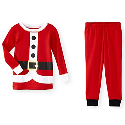 Toddler Little Boys 2 Piece Christmas Santa Pajamas