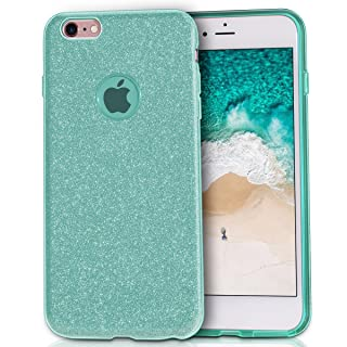 MATEPROX iPhone 6s Plus Case iPhone 6 Plus Case Glitter Slim Crystal Bling 3 Layer Hybrid Protective Case for iPhone 6s/6 Plus 5.5'' (Green)