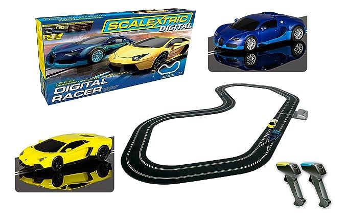 amazon com scalextric c1327t digital racer 1 32 slot car race set rh amazon com Changeing with Racing Digital Scalextric Multi-Lane Scalextric Digital Platinum