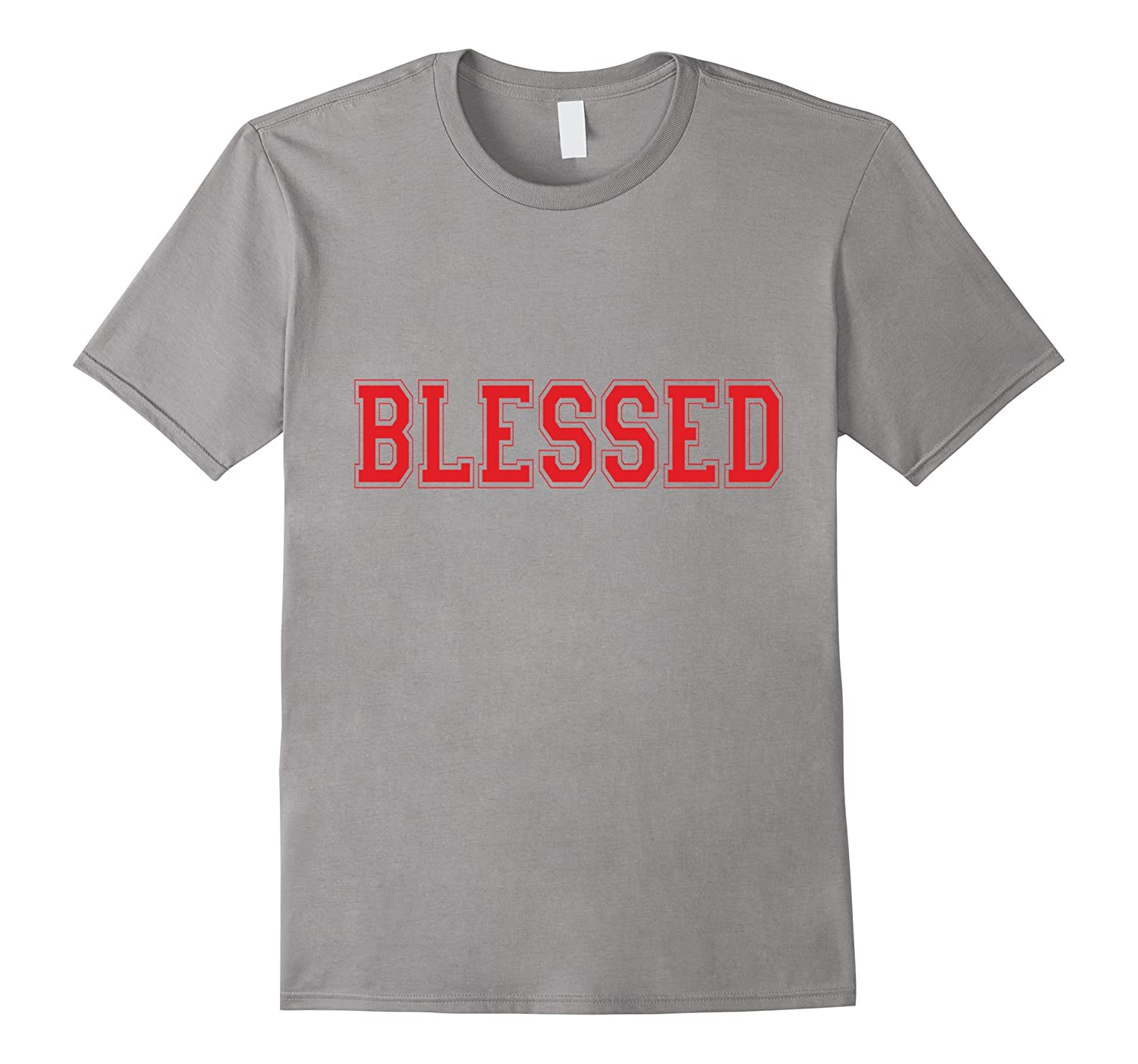 Christian T Shirts Blessed (Red)-FL