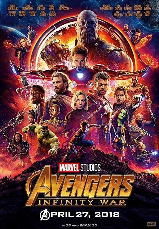 CoolPrintsUK The Avengers Poster Borderless Vibrant Premium Glossy Movie Poster Various Sizes A1 Size 33.1 x 23.4 Inch // 841 x 594 mm
