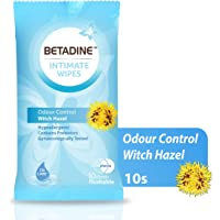 BETADINE INTIMATE WIPES WITCH HAZEL 10's