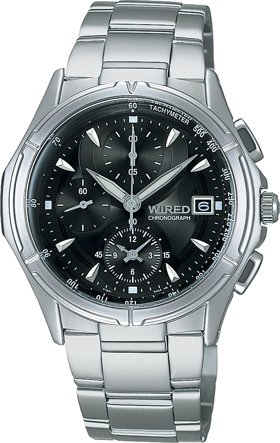 Amazon.com: WIRED watches chronograph stainless steel model AGBV139 mens watch: Watches