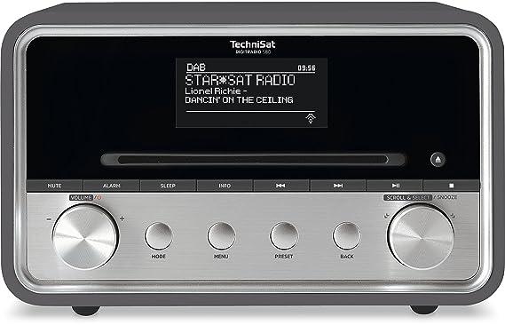 TechniSat Digitradio 580 Internetradio (Spotify, WLAN, LAN, DAB+, DAB, UKW, CD-Player, Bluetooth, USB 2.0, Radiowecker, Wifi-