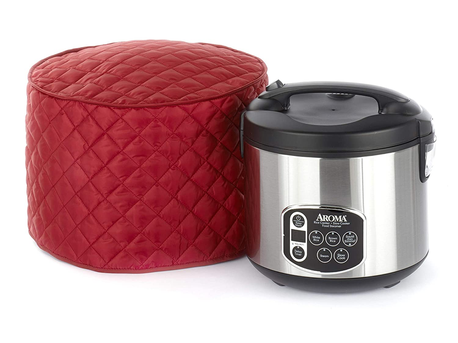 CoverMates – Rice Cooker Cover – 11D x 12H – Diamond Collection – 2 YR Warranty – Year Around Protection - Red
