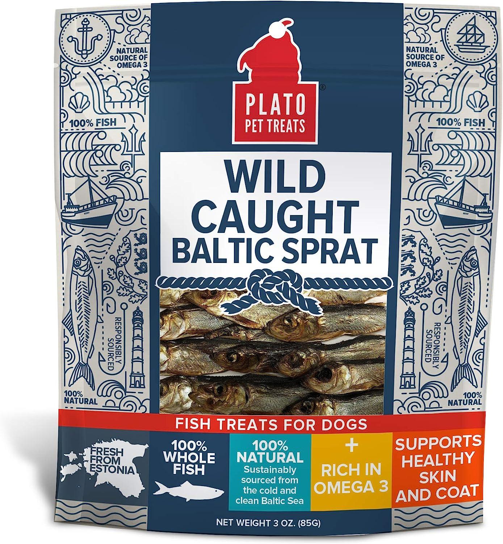 Plato Pet Wild Caught Baltic Sprat Dog Treats