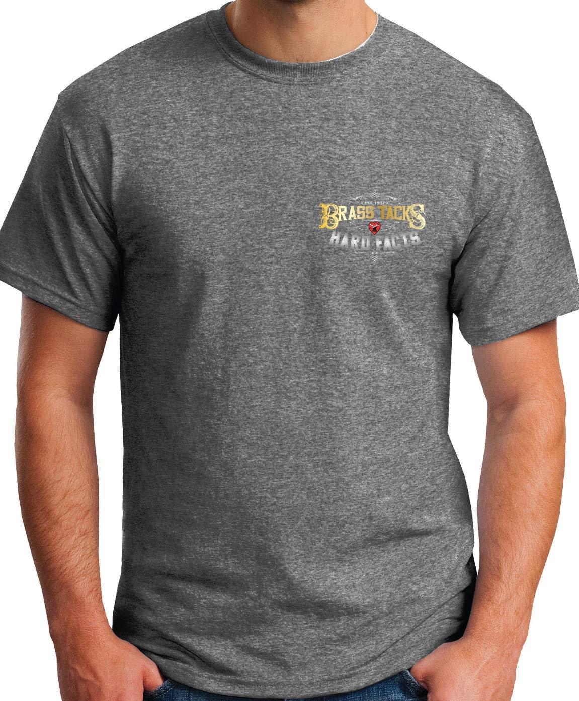 99610140 Elkhart Brass Brass Tacks Hard Facts Short Sleeve Dark Gray T Shirt - Medium 818-Je0qGsL