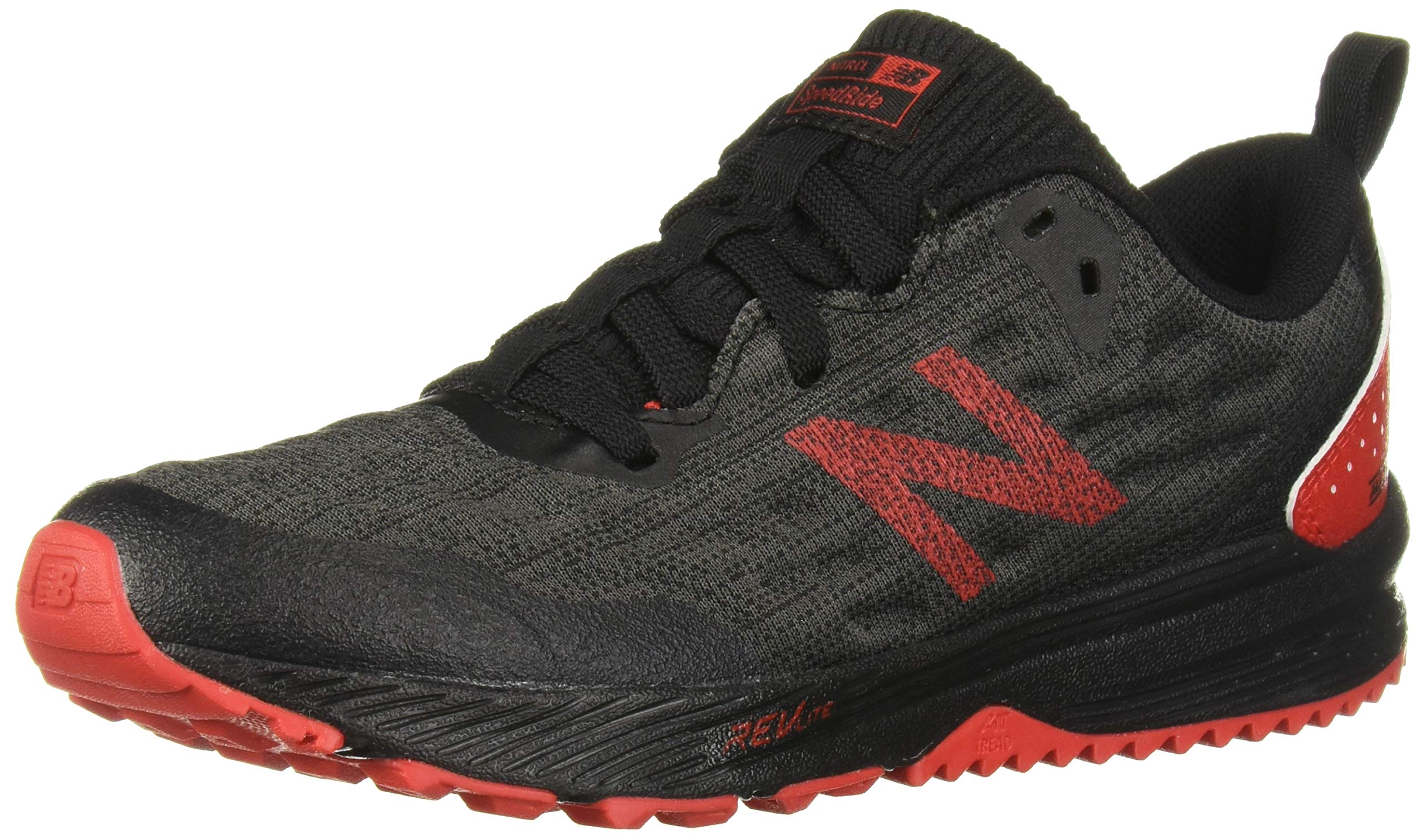 New Balance Boys' Nitrel V5 Running Shoe, Black/Phantom, 4.5 W US Big Kid
