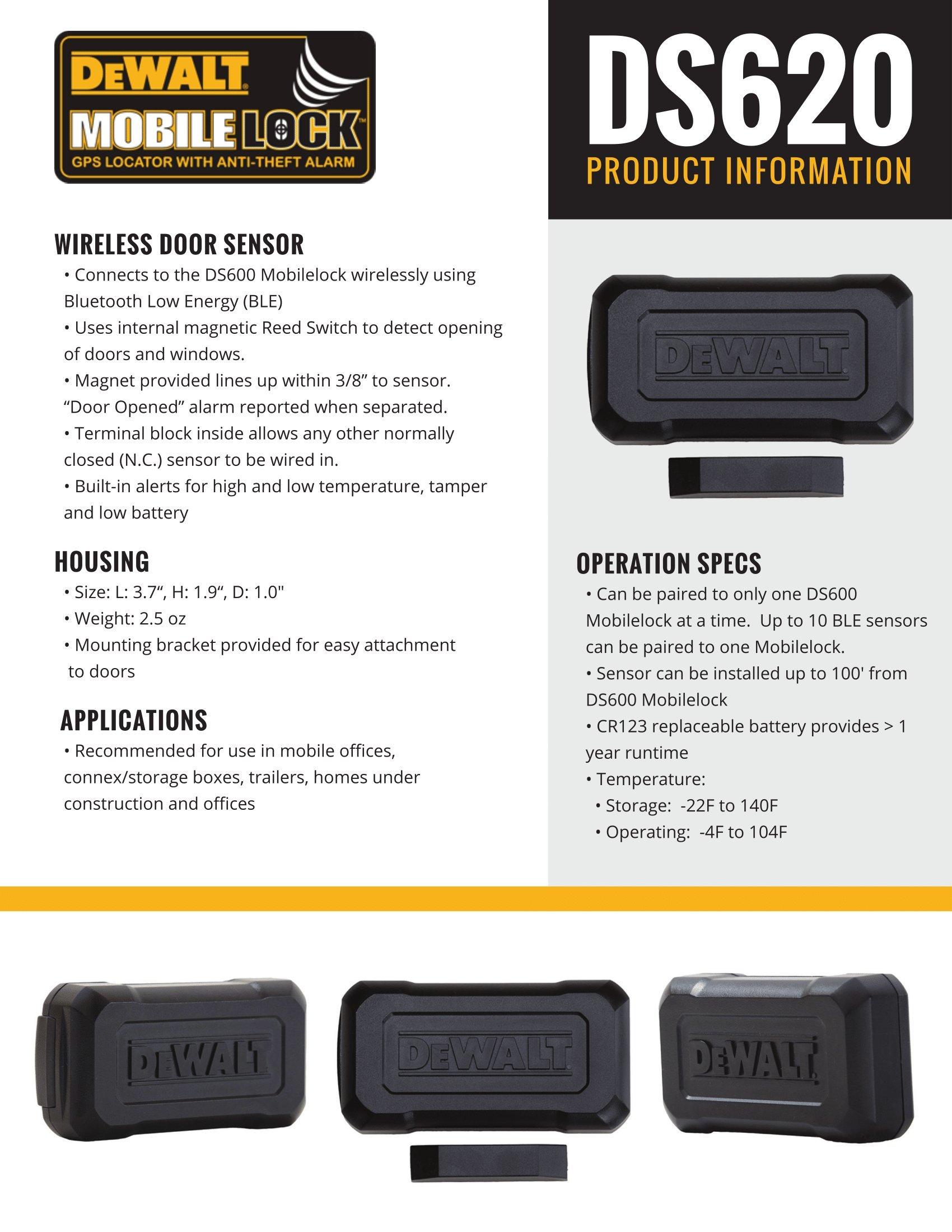DS620 Wireless Door Sensor (works only with DS600)