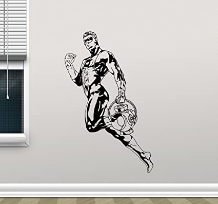 Green Lantern Superhero Wall Decal Marvel Comics Cartoon Vinyl Sticker Superhero Wall Art Design Housewares Kids