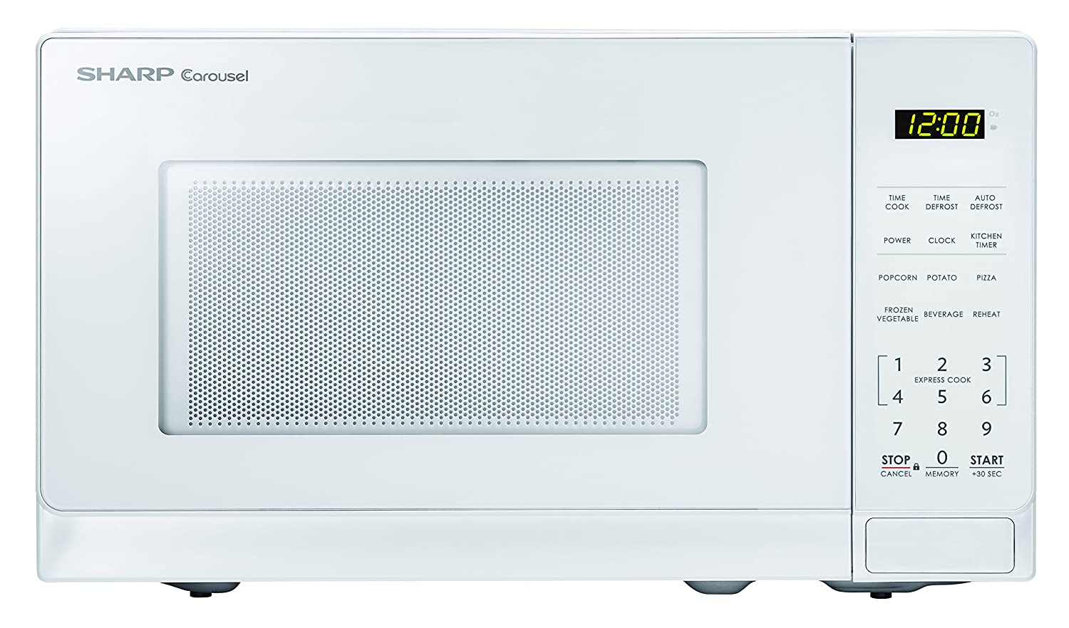 Sharp Microwaves ZSMC0710BW Sharp 700W Countertop Microwave Oven, 0.7 Cubic Foot, White