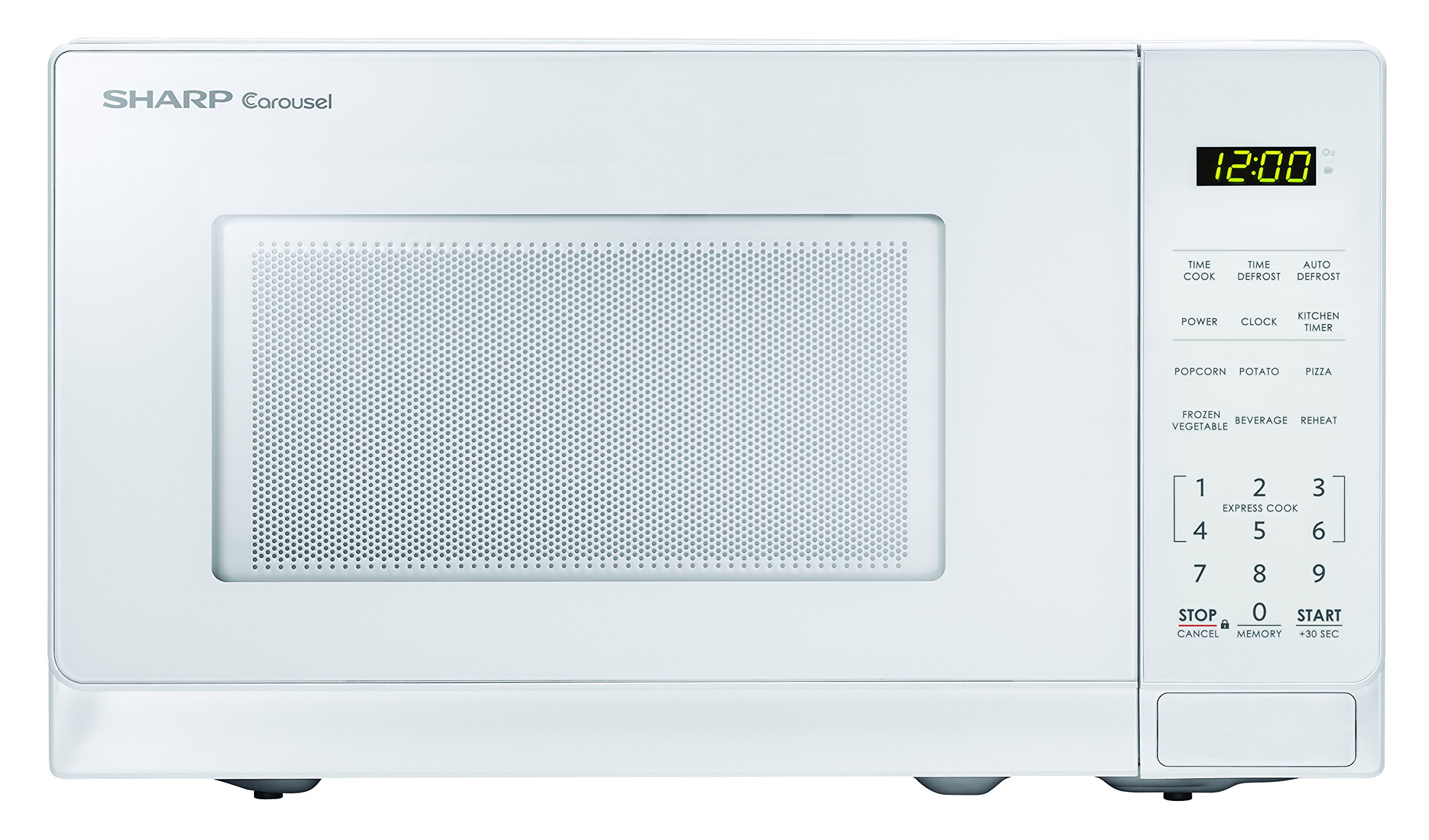 Sharp Microwaves ZSMC0710BW Sharp 700W Countertop Microwave Oven, 0.7 Cubic Foot, White by Sharp Microwaves