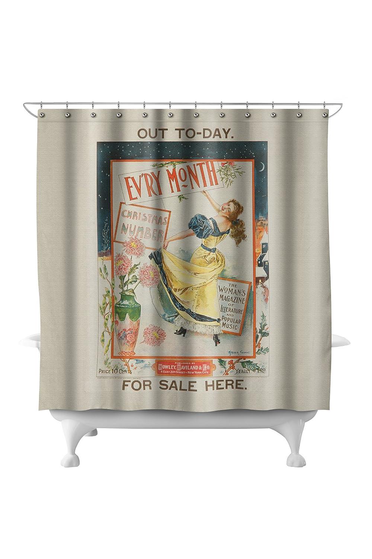 Amazon.com: Evry Month Vintage Poster (artist: Archie Gunn) c. 1896 (71x74 Polyester Shower Curtain): Home & Kitchen