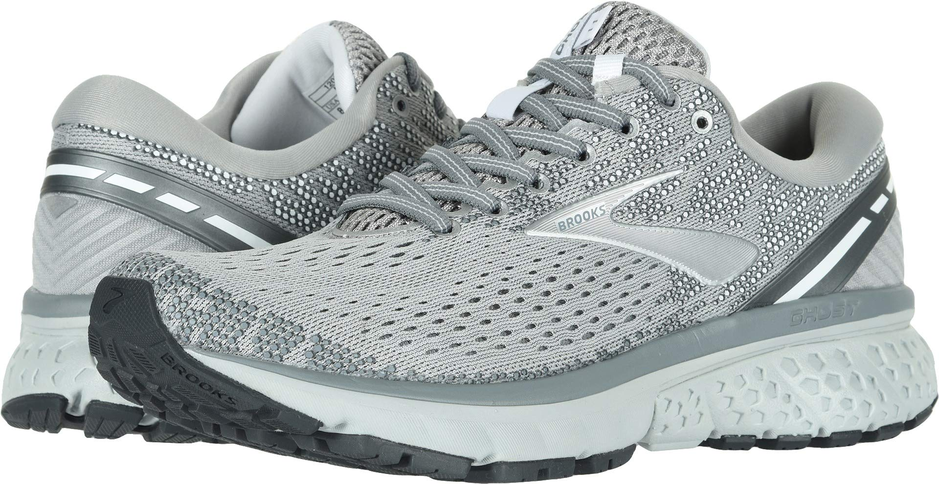 Brooks Women's Ghost 11 Grey/Silver/White 5 B US by Brooks (Image #1)