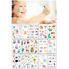 Kids Temporary Tattoos Animals 15 Sheets Fake Tattoos for Kids Kids Temporary Tattoos Dinosaurs Best for Party Favors Birthday Party Supplies Non Toxic FDA Approved Colorants (Dinosaurs)