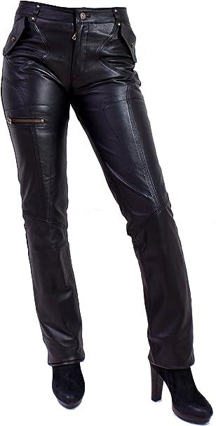 Unbekannt Piri Damen Lederhose aus echtem Lamm Nappa Leder