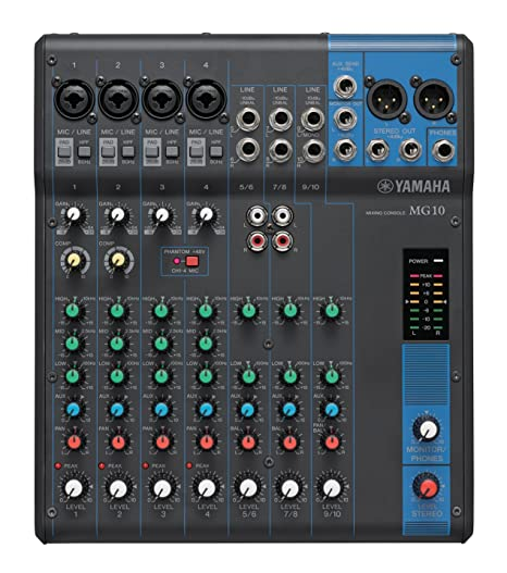 Yamaha MG10 10-Channel Mixer DJ Mixer at amazon