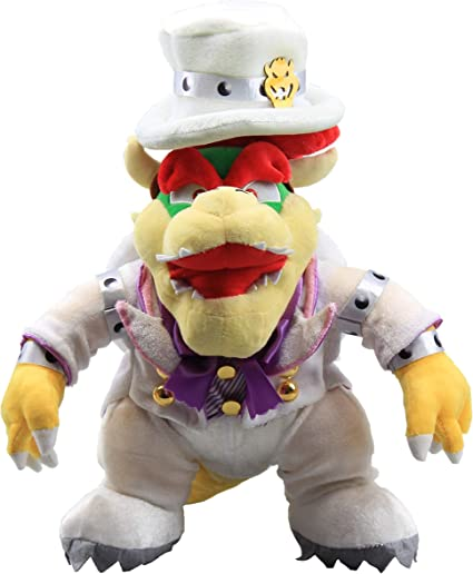 "Super Mario Odyssey King Bowser Boss Wedding Dress Plush Toy Stuffed Animal 14/"""