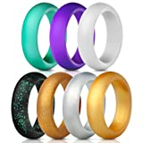 Amazon Price History for:Silicone Rings Wedding Bands 7 Pack, Women