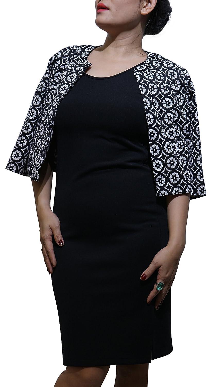 db3a5fd41ac JoJo Women s Summer Jacket 3 4 Sleeve Open Front Slim Work Casual Blazer  Coat  AVAINSET - Black at Amazon Women s Clothing store