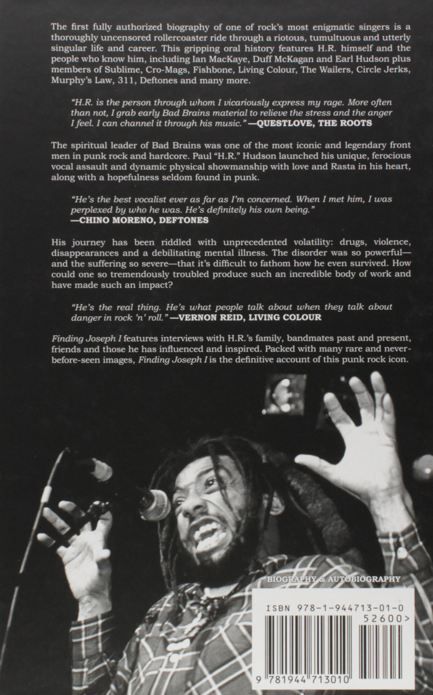Finding joseph i an oral history of hr from bad brains howie finding joseph i an oral history of hr from bad brains howie abrams james lathos 9781944713010 amazon books fandeluxe Image collections