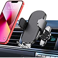 TEUMI Car Phone Holder, [Upgraded Vent Clip] Hands Free Cell Phone Holder for Car, Universal Air Vent Car Phone Mount…