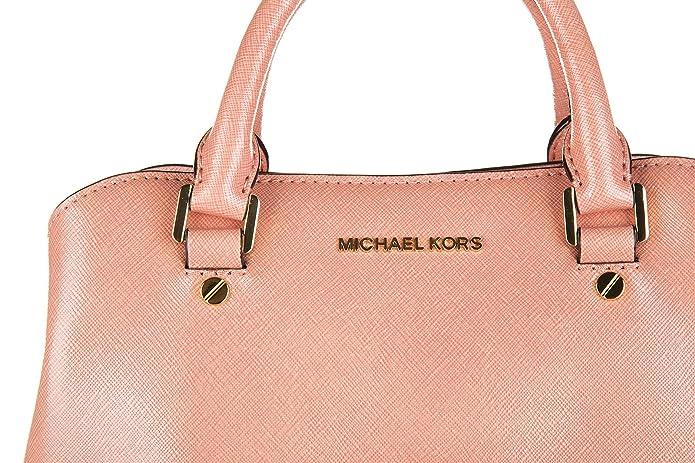 8b77cc6032 Michael Kors Savannah Small patenet Saffiano leather Satchel - 30S6GS7S1A   Handbags  Amazon.com