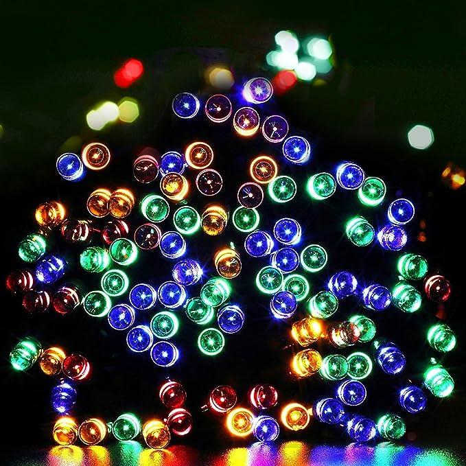 22 opinioni per Aglaia Stringa LED Solare con Multi-Colore, 10M 100 LED Impermeabile con Sensore
