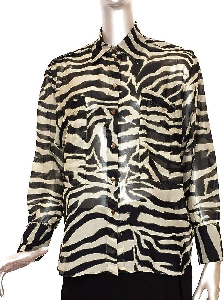 MASSIMO DUTTI 5159/821 - Camiseta de Manga Corta para Mujer, diseño de Cebra - Marfil - 74: Amazon.es: Ropa y accesorios