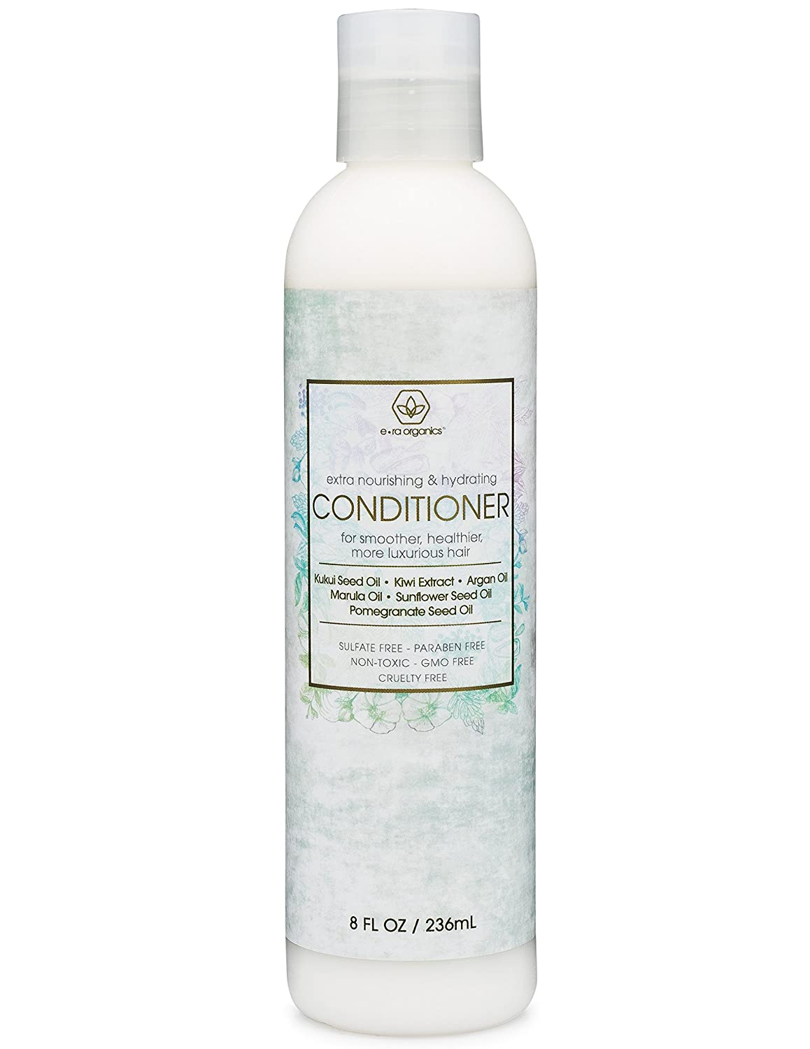 Premium Natural Hair Conditioner 8oz. Extra Moisturizing & Volumizing Conditioner for Brittle, Damaged, Dry Hair With Argan Oil, Kukui Seed, Kiwi & Pomegranate for Softer, Healthier, Luxurious Hair.