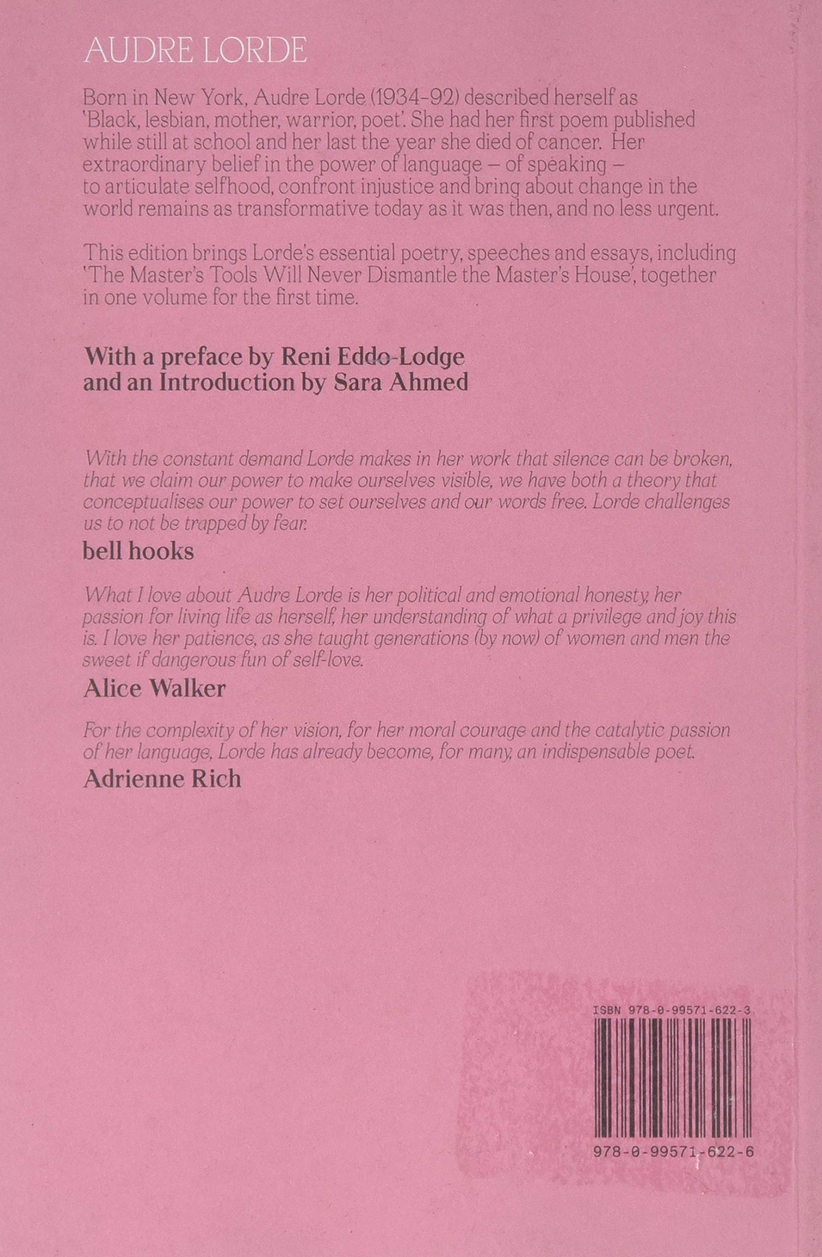 Your Silence Will Not Protect You: Essays and Poems: Amazon