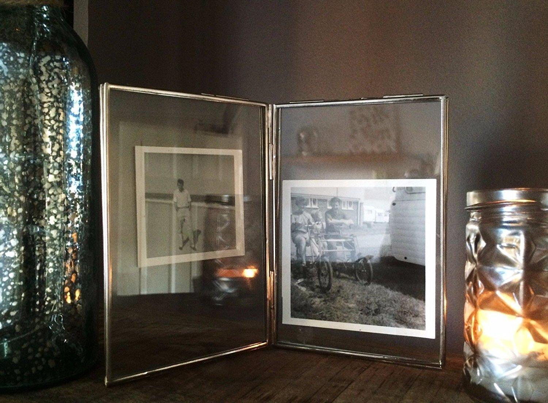 Homes On Trend Foto-Rahmen Doppelseitige Glas & Metall Bildhalter ...
