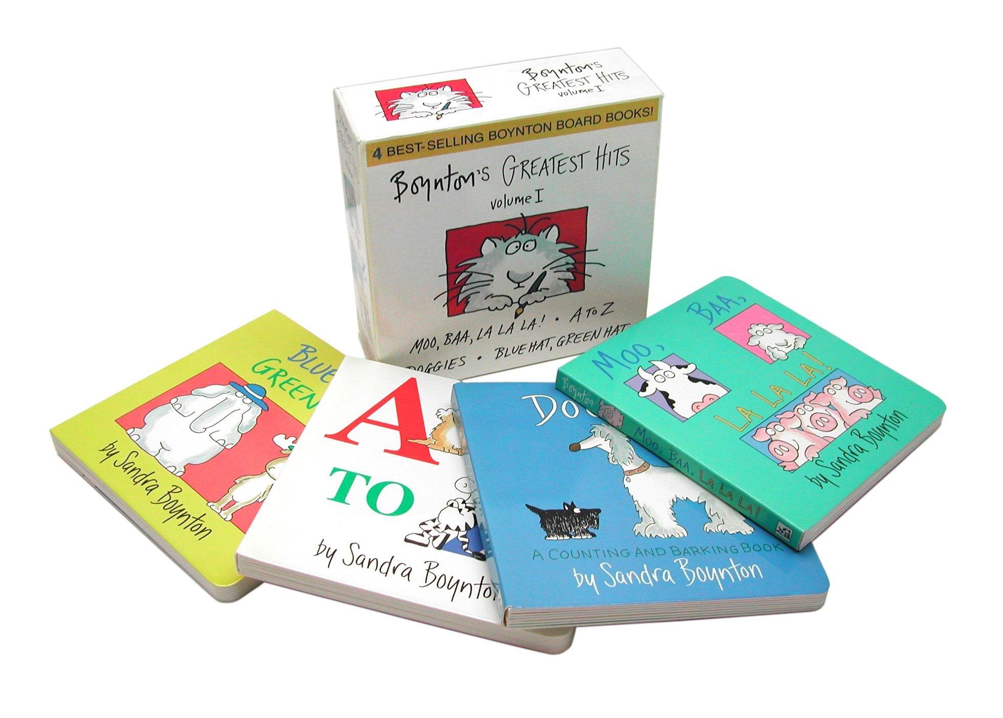 Boynton's Greatest Hits Volume 1: Blue Hat, Green Hat; A to Z; Moo, Baa, La La La!; Doggies (Boynton Board Books) by Little Simon (Image #3)
