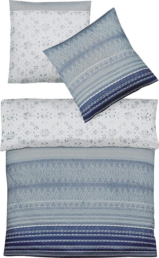 Fleuresse - Juego de Funda nórdica de Franela de algodón, Azul ...