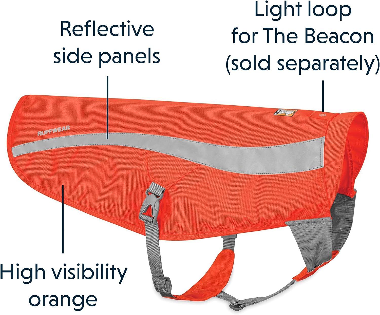 Jagd- und Arbeitshunde Ruffwear Sicherheitsjacke f/ür Hunde Blaze Orange Orange Reflektierend Track Jacket Hohe Sichtbarkeit