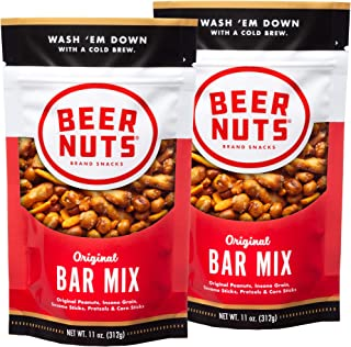 product image for BEER NUTS Original Bar Mix - 11oz Resealable Bag, , Pretzels, Cheese Sticks, Sesame Sticks, Roasted Corn Nuts, and Original Peanuts (2-Pack)