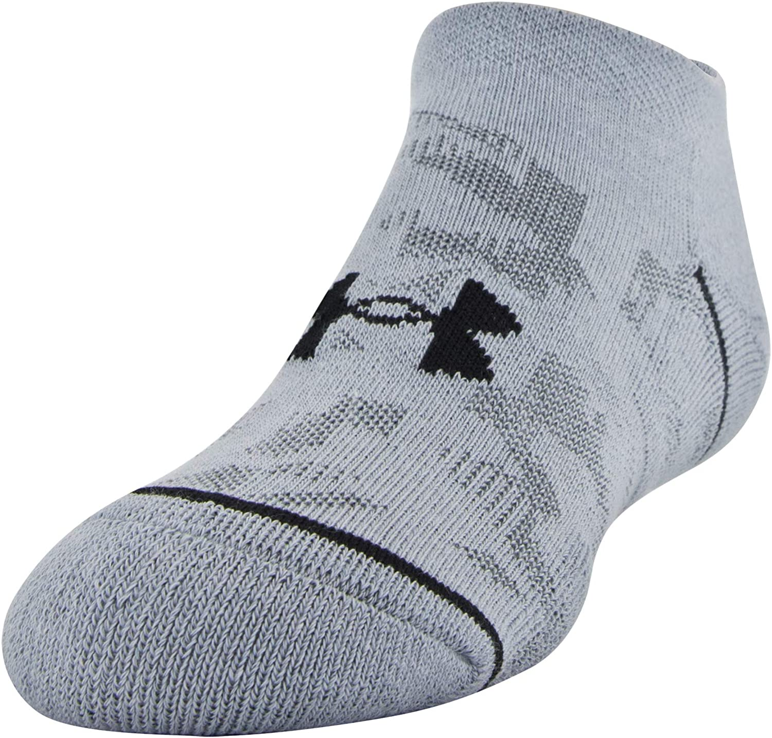 Under Armour Youth Phenom No Show Socks, 3-Pairs, Heather Blue Assorted, Shoe Size: Youth 13.5K-4Y: Clothing