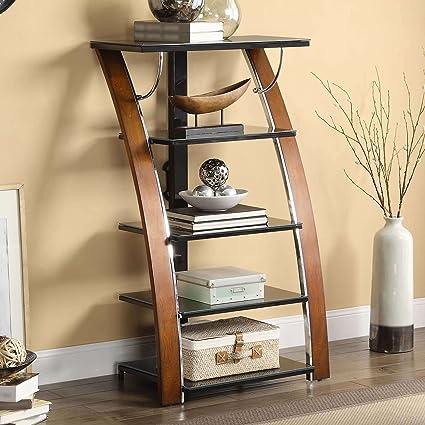 Care 4 Home LLC 5 Shelf Multi Material Media Storage Stand, Tempered Glass  Shelves,