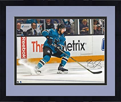 44cead7df Image Unavailable. Image not available for. Color: Framed Brenden Dillon San  Jose Sharks Autographed ...