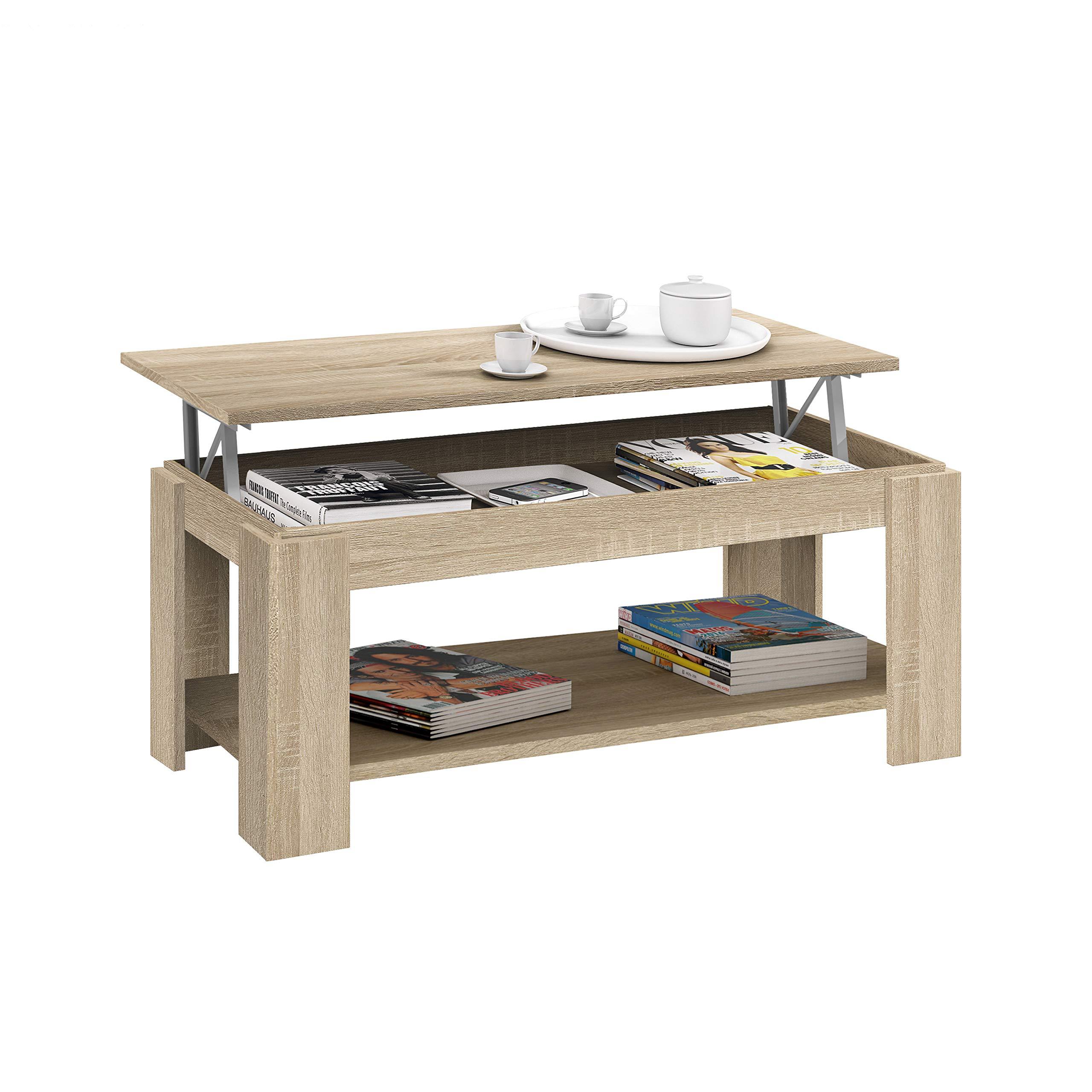 Habitdesign 001639f Tavolino Sollevabile Con Portariviste Incorporato L5v Ebay