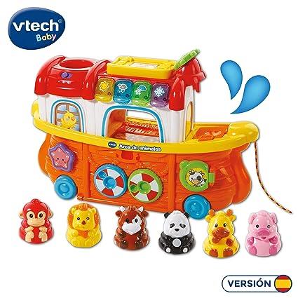 VTech- TutTut Animals Arca de Animales Juguete Interactivo con luz y Voz Que enseña el Clima, Colores e Incluye más de 50 melodías, Canciones y Frases ...